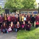 Team 5 visit County Hall